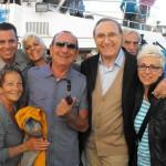 Baudo con Raoul Casadei e famiglia
